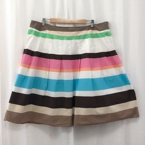 Talbots striped cotton fit and flare skirt 18W